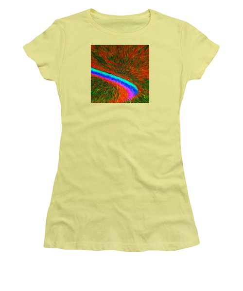 Women's T-Shirt (Junior Cut) featuring the painting Solar Winds C2014 by Paul Ashby
