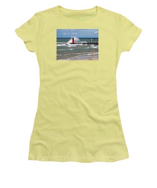 South Haven Splash Women's T-Shirt (Junior Cut) by Ann Horn