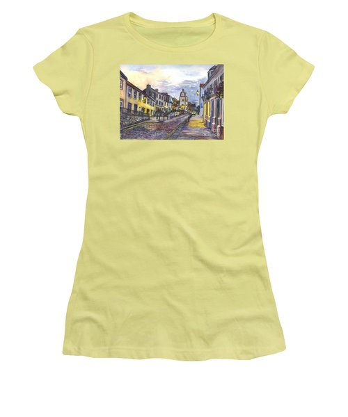 Nightfall At South Queensferry Edinburgh Scotland At Dusk Women's T-Shirt (Junior Cut) by Carol Wisniewski