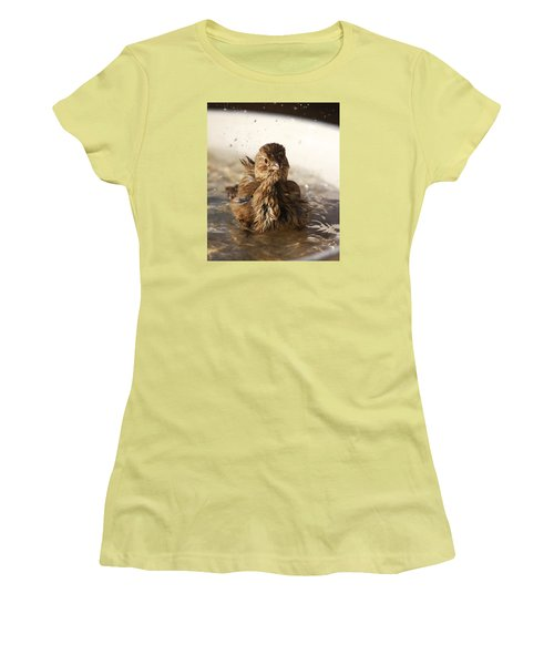 Sparrow Bathing Women's T-Shirt (Athletic Fit)