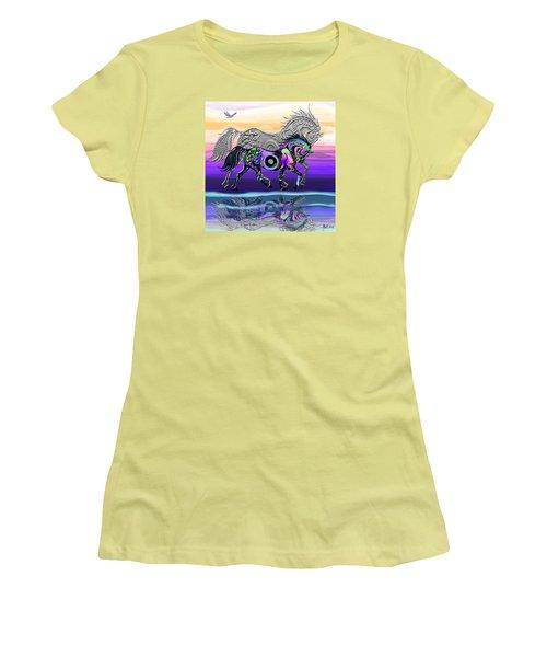 Spirit Horse Women's T-Shirt (Junior Cut) by Michele Avanti