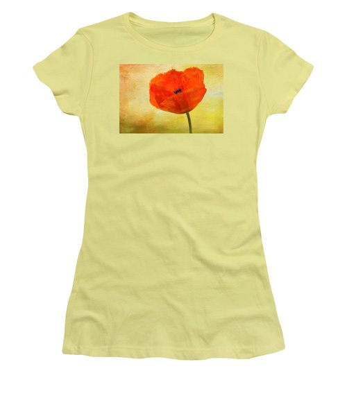 Springtime Poppy Beauty Women's T-Shirt (Athletic Fit)