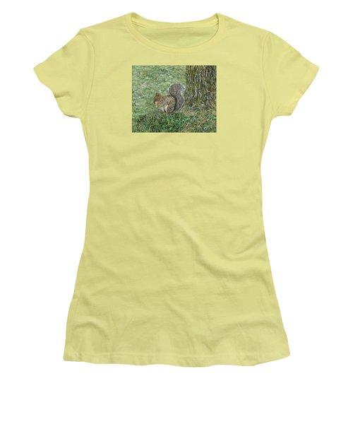 Squirrel Women's T-Shirt (Junior Cut) by Lucinda V VanVleck