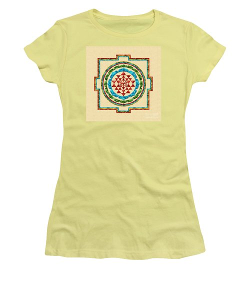 Sri Yantra Women's T-Shirt (Junior Cut) by Olga Hamilton