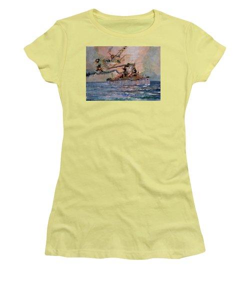 Ss Waimarama Women's T-Shirt (Junior Cut) by Ray Agius