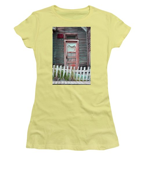 St. Elmo Door Salmon Women's T-Shirt (Junior Cut) by Lanita Williams