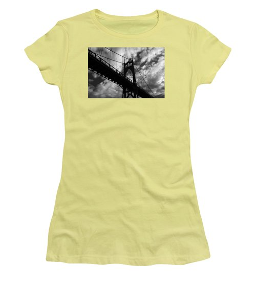 St Johns Bridge Women's T-Shirt (Athletic Fit)