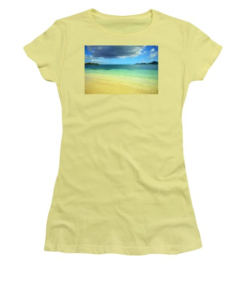 St. Maarten Tropical Paradise Women's T-Shirt (Athletic Fit)