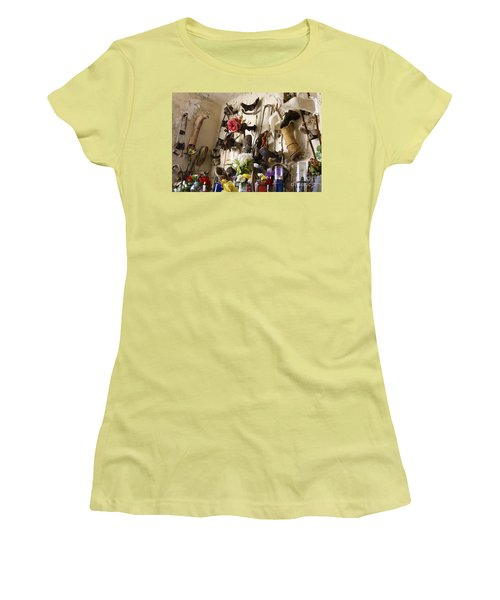 Women's T-Shirt (Junior Cut) featuring the photograph New Orleans St Roch Cemetery by Luana K Perez
