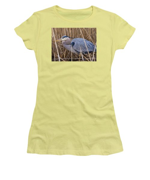 Stalking Fish In The Reeds Women's T-Shirt (Athletic Fit)