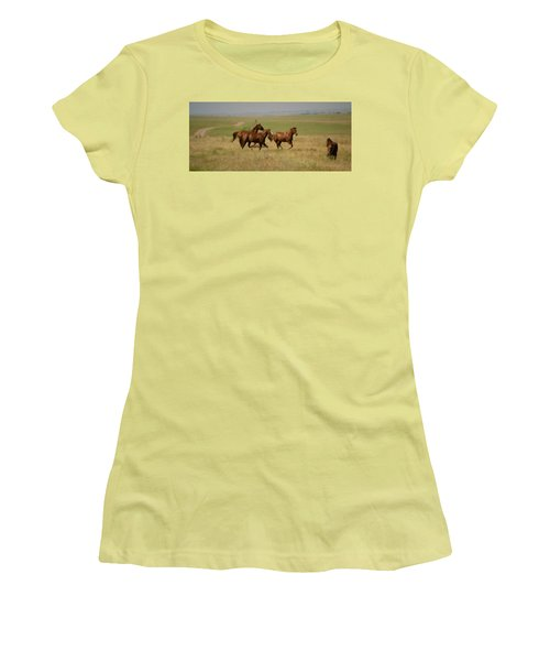 Women's T-Shirt (Junior Cut) featuring the photograph Stances by Rima Biswas