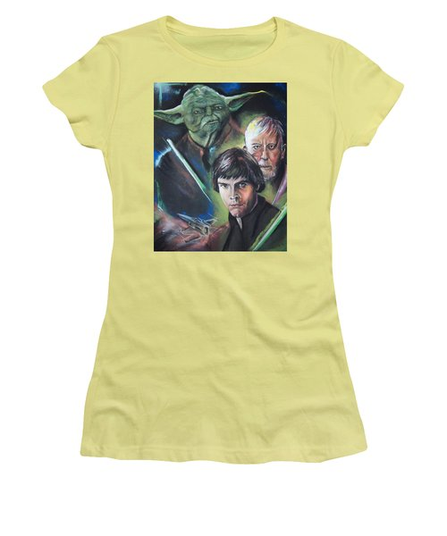 Star Wars Medley Women's T-Shirt (Junior Cut) by Peter Suhocke