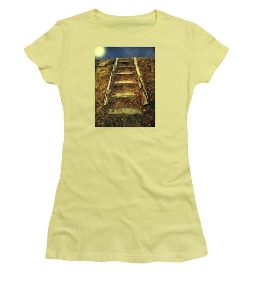 Starclimb Women's T-Shirt (Junior Cut) by RC deWinter