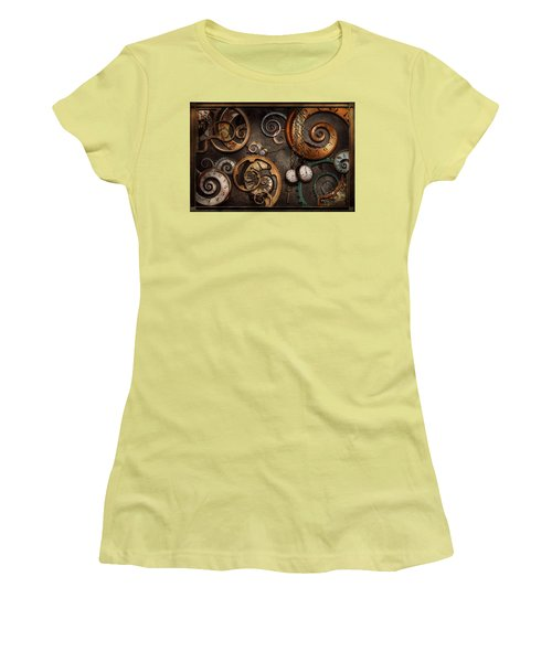 Steampunk - Abstract - Time Is Complicated Women's T-Shirt (Junior Cut) by Mike Savad