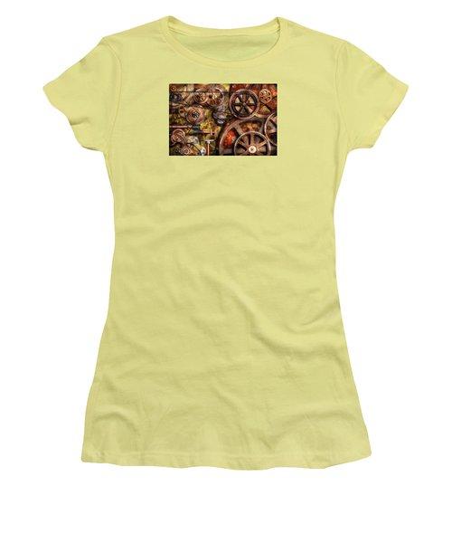Steampunk - Gears - Inner Workings Women's T-Shirt (Athletic Fit)