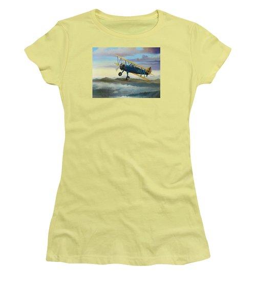 Stearman Biplane Women's T-Shirt (Junior Cut) by Stuart Swartz