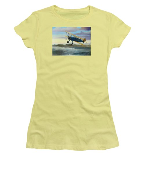 Stearman Biplane Women's T-Shirt (Athletic Fit)