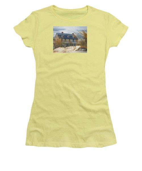 Stevens House Women's T-Shirt (Junior Cut) by Barbara Barber