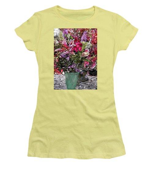 Women's T-Shirt (Junior Cut) featuring the digital art Still Life Floral by David Lane
