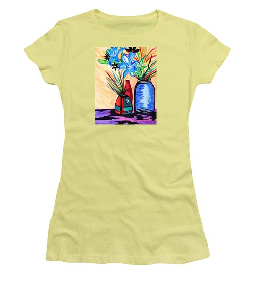 Still Life Flowers Women's T-Shirt (Athletic Fit)
