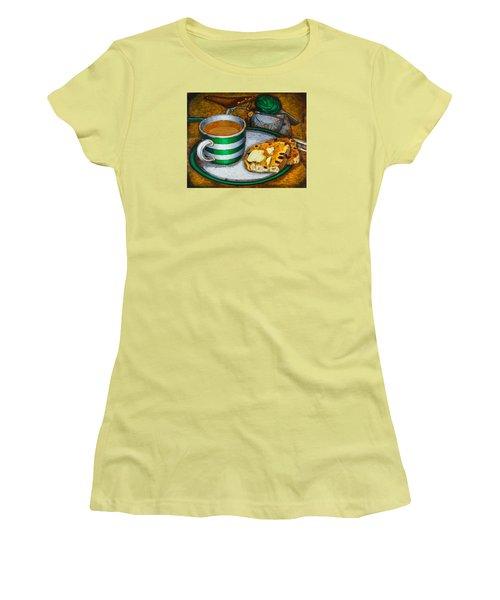 Still Life With Green Touring Bike Women's T-Shirt (Junior Cut) by Mark Jones