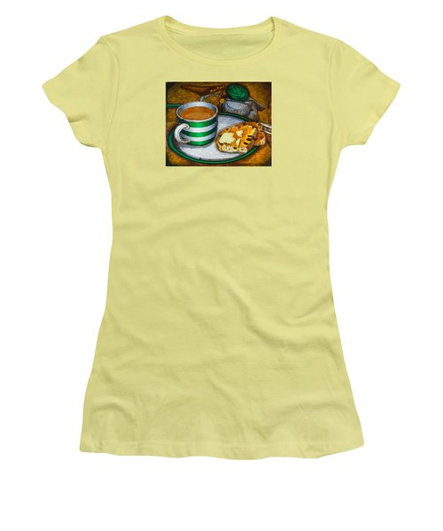 Still Life With Green Touring Bike Women's T-Shirt (Athletic Fit)