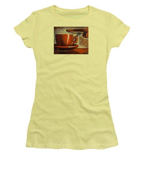 Still Life With Racing Bike Women's T-Shirt (Junior Cut) by Mark Jones