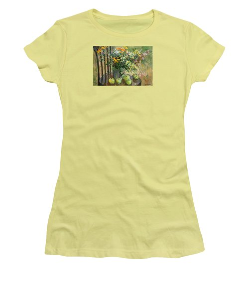 Stilllife With Apples Women's T-Shirt (Athletic Fit)