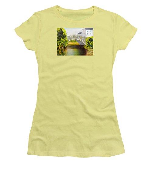 Stone Bridge At Burrowford Uk Women's T-Shirt (Athletic Fit)