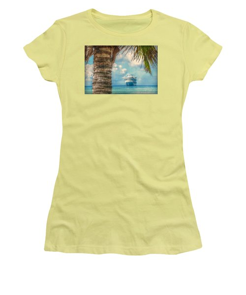 Stopover In Paradise Women's T-Shirt (Athletic Fit)