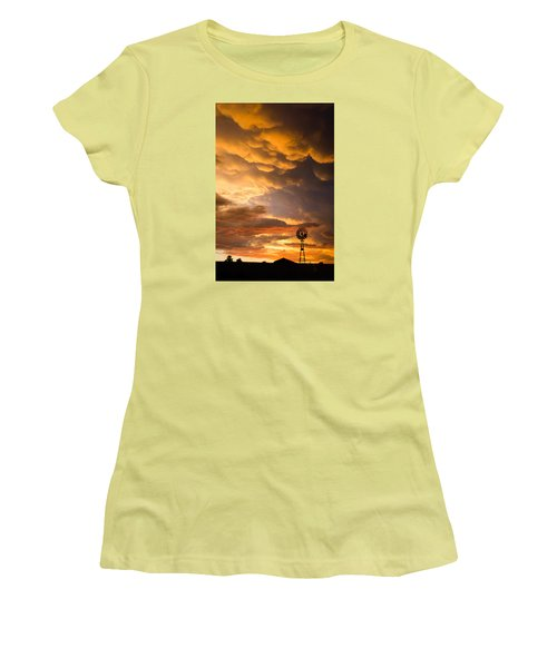Stormy Sunrise Women's T-Shirt (Athletic Fit)