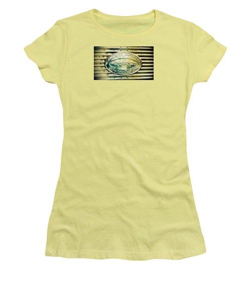 Stout Metal Airplane Co. Emblem Women's T-Shirt (Junior Cut) by Susan Garren