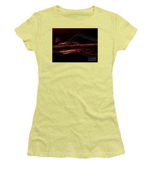 Streaks Across The Bridge Women's T-Shirt (Junior Cut) by Paulo Guimaraes