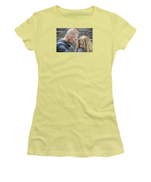 Women's T-Shirt (Junior Cut) featuring the photograph Street People - A Touch Of Humanity 4 by Teo SITCHET-KANDA