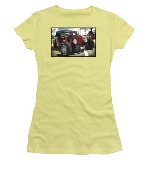 Street Rod Truck Women's T-Shirt (Junior Cut) by James C Thomas