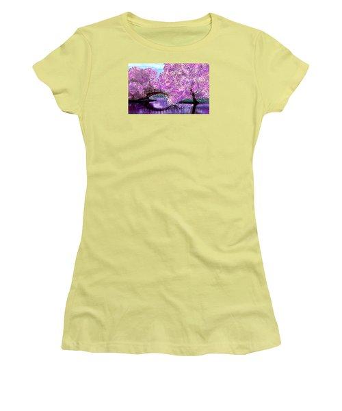 Summer Bridge Women's T-Shirt (Junior Cut) by Michele Avanti