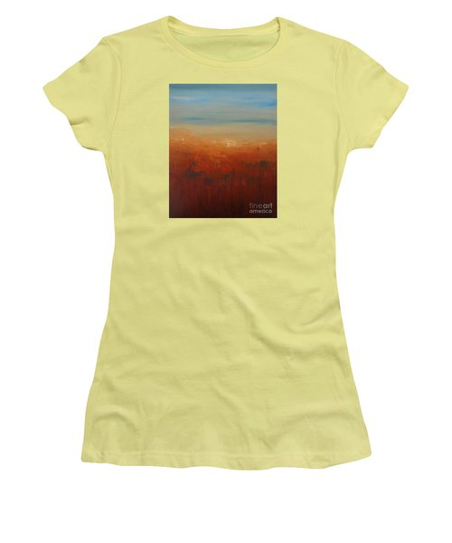 Women's T-Shirt (Junior Cut) featuring the painting Sunburnt Country by Jane  See