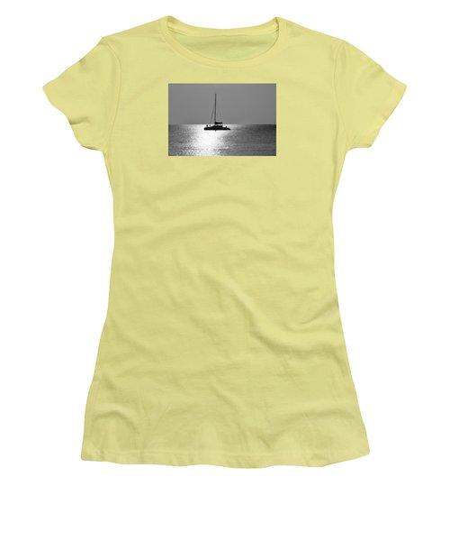 Sundown Sail Women's T-Shirt (Junior Cut) by Amar Sheow