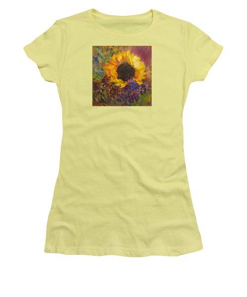 Sunflower Dance Original Painting Impressionist Women's T-Shirt (Junior Cut) by Quin Sweetman