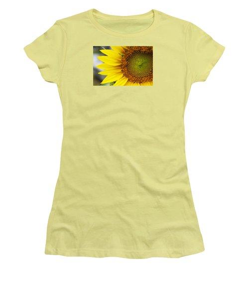 Sunflower Face Women's T-Shirt (Junior Cut) by Shelly Gunderson