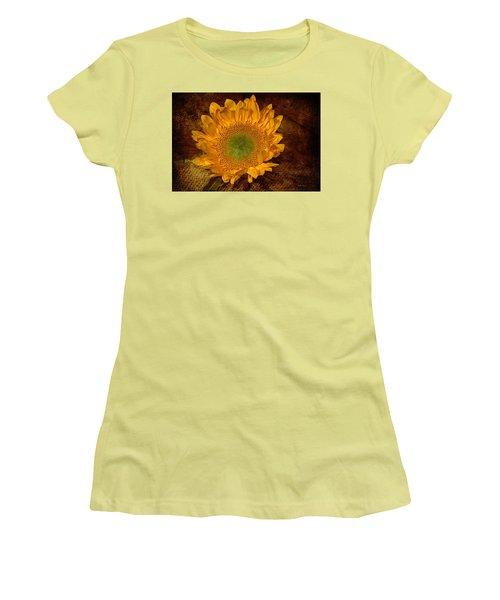 Women's T-Shirt (Junior Cut) featuring the photograph Sunflower Light by Phyllis Denton