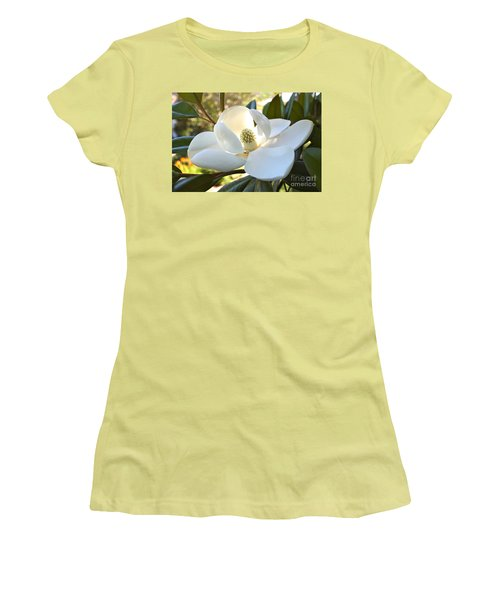 Sunlit Southern Magnolia Women's T-Shirt (Athletic Fit)