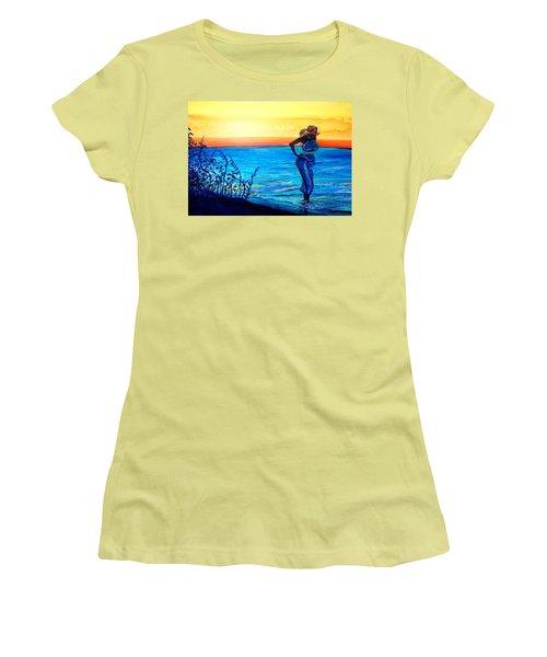 Sunrise Blues Women's T-Shirt (Junior Cut) by Ecinja Art Works