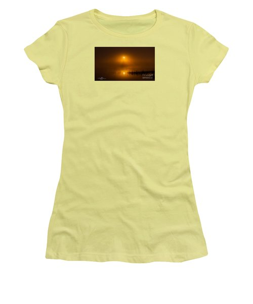 Sunrise In The Fog Women's T-Shirt (Athletic Fit)