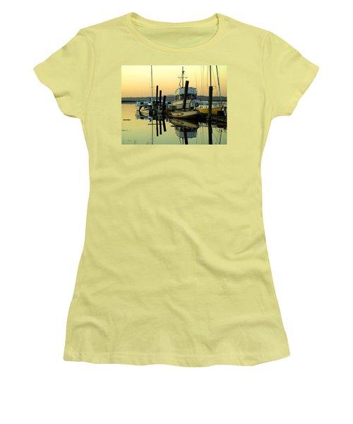 Sunrise On The Petaluma River Women's T-Shirt (Junior Cut) by Bill Gallagher