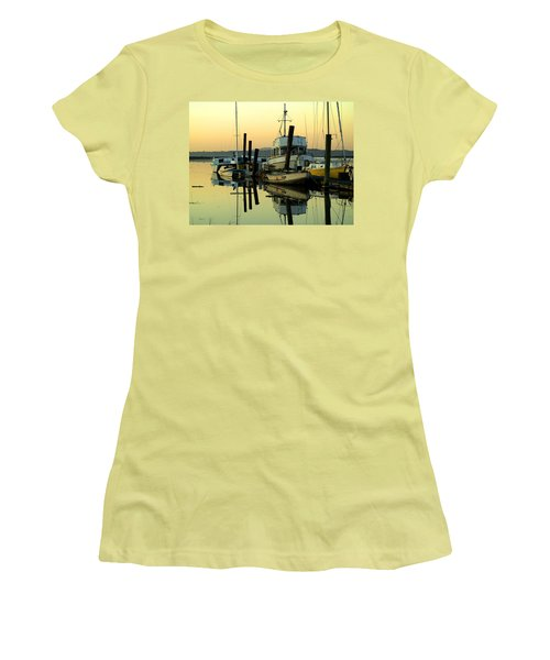 Sunrise On The Petaluma River Women's T-Shirt (Athletic Fit)