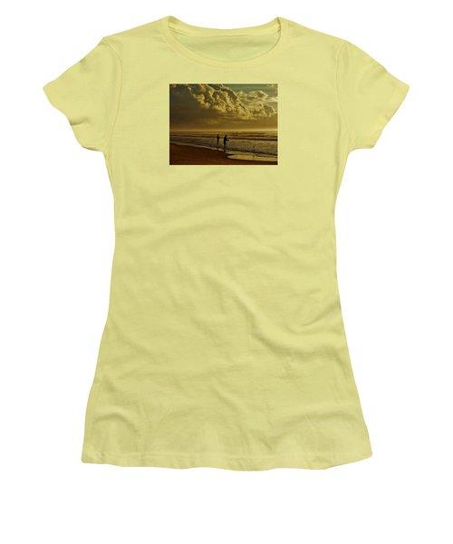 Sunrise Surf Fishing Women's T-Shirt (Junior Cut) by Ed Sweeney