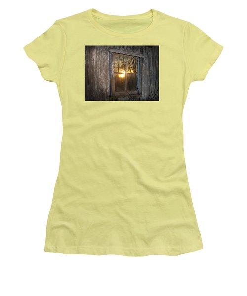 Sunset In Glass Women's T-Shirt (Junior Cut) by Cynthia Lassiter