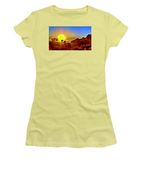 Sunset Joshua Tree National Park V2 Women's T-Shirt (Athletic Fit)