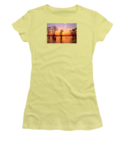 Sunset Lake In Louisiana Women's T-Shirt (Athletic Fit)